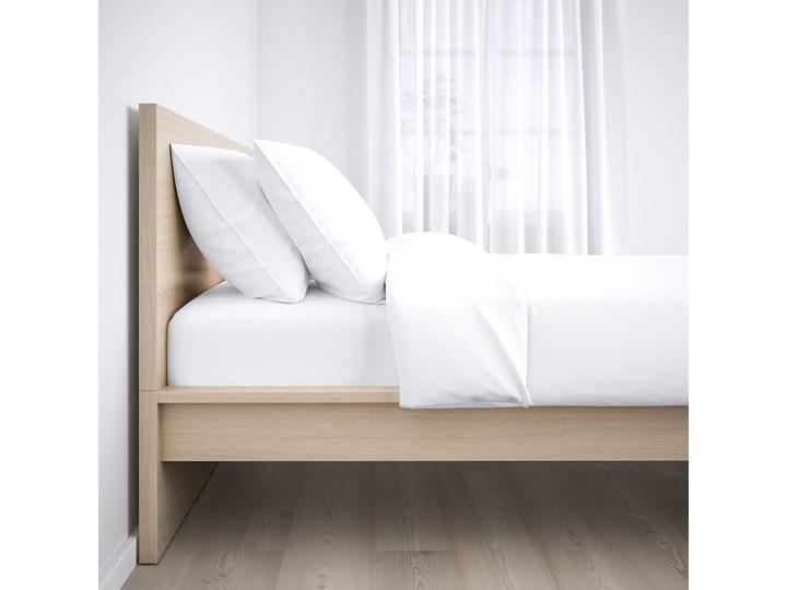 IKEA MALM Rama łóżka, wysoka, Okleina dębowa bejcowana na biało, 140x200 cm Drewno Łóżko drewniane Kategoria Łóżka do sypialni Kolor Beżowy