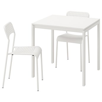 IKEA MELLTORP / ADDE Stół i 2 krzesła, biały, 75 cm