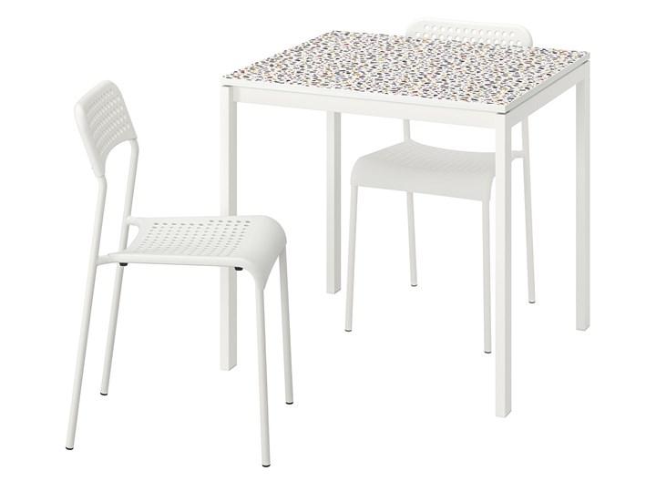 IKEA MELLTORP / ADDE Stół i 2 krzesła, wzór mozaika biały/biały, 75x75 cm Kategoria Stoły z krzesłami