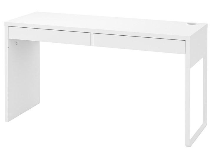 IKEA MICKE Biurko, Biały, 142x50 cm Pomieszczenie Pokój nastolatka Biurko tradycyjne Szerokość 142 cm Płyta MDF Stal Kategoria Biurka