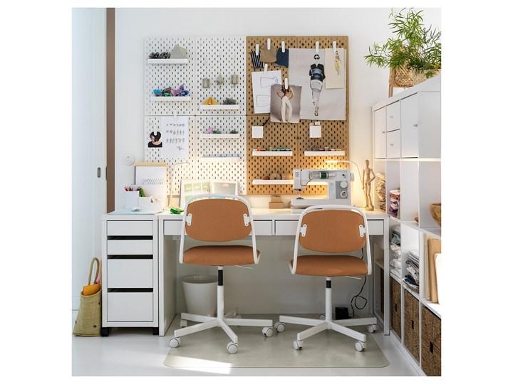 IKEA MICKE Biurko, Biały, 142x50 cm Płyta MDF Szerokość 142 cm Biurko tradycyjne Stal Kategoria Biurka