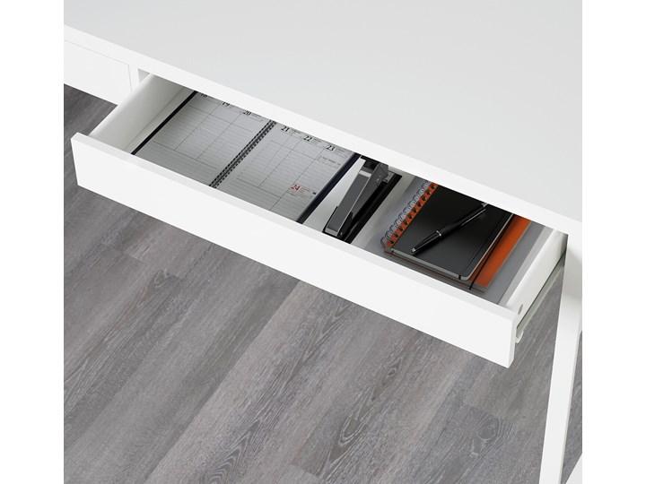 IKEA MICKE Biurko, Biały, 142x50 cm Płyta MDF Szerokość 142 cm Stal Biurko tradycyjne Pomieszczenie Pokój nastolatka