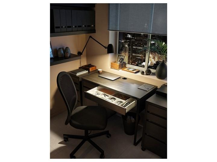 IKEA MICKE Biurko, Czarnobrąz, 105x50 cm Szerokość 105 cm Kolor Czarny Płyta MDF Kategoria Biurka