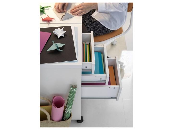 IKEA MICKE Komoda na kółkach, Biały, 35x75 cm Pomieszczenie Biuro i pracownia Płyta meblowa Płyta laminowana Płyta MDF Kategoria Szafki i regały