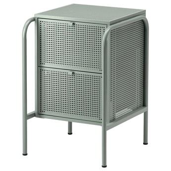 IKEA NIKKEBY Komoda, 2 szuflady, szarozielony, 46x70 cm