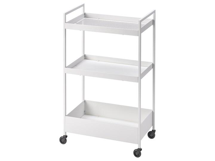 IKEA NISSAFORS Wózek, Biały, 50.5x30x83 cm