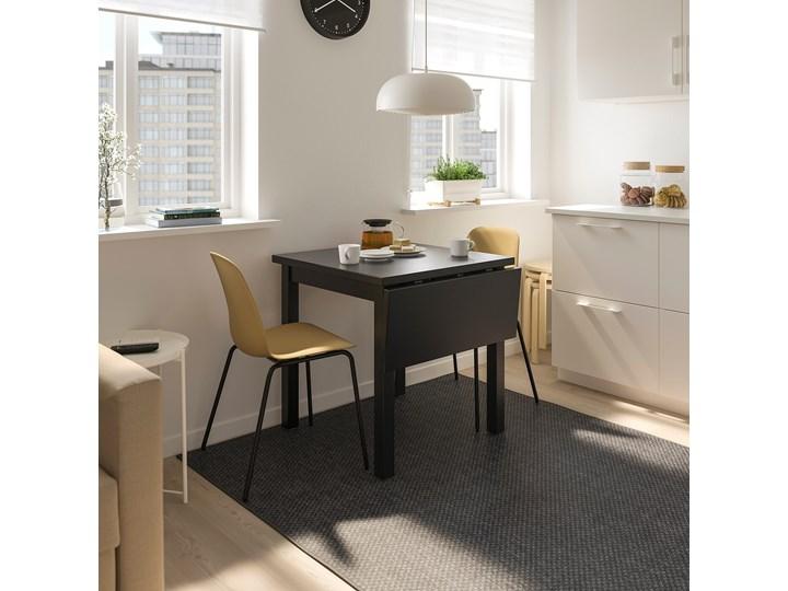 IKEA NORDVIKEN Stół z opuszcz blatem, Czarny, 74/104x74 cm Długość 104 cm Kształt blatu Kwadratowy Drewno Pomieszczenie Stoły do kuchni