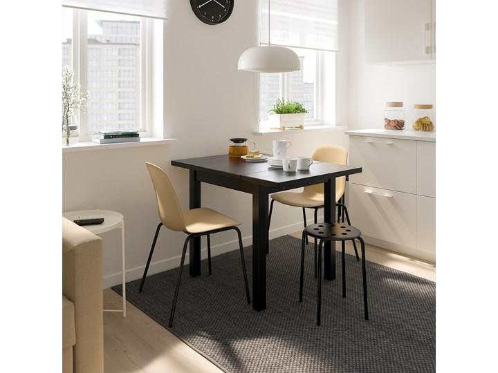 IKEA NORDVIKEN Stół z opuszcz blatem, Czarny, 74/104x74 cm Długość 104 cm Drewno Kształt blatu Kwadratowy