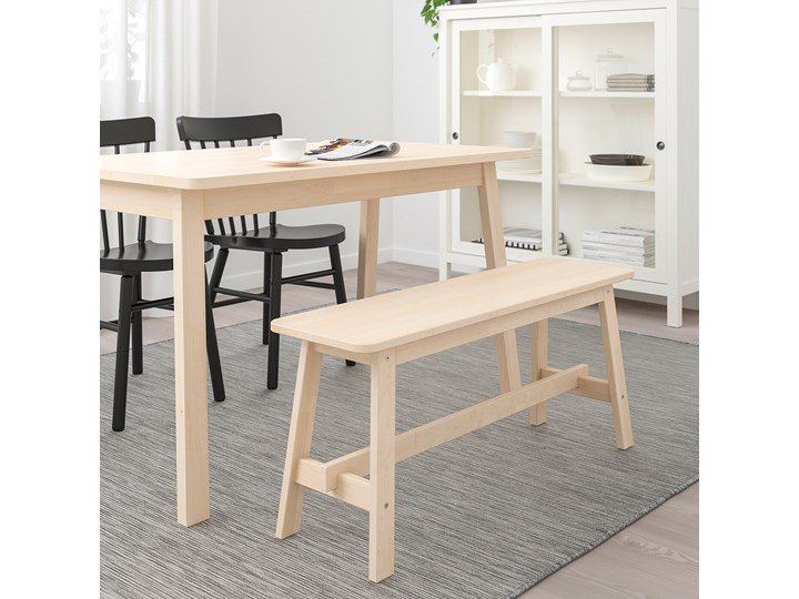 IKEA NORRÅKER Ławka, brzoza, 103 cm Materiał nóżek Drewno