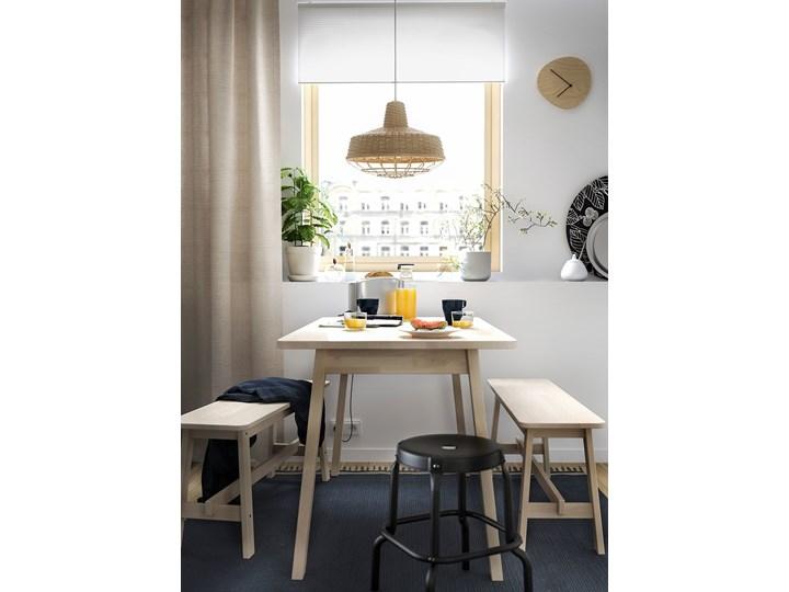 IKEA NORRÅKER Ławka, brzoza, 103 cm Styl Minimalistyczny Materiał nóżek Drewno