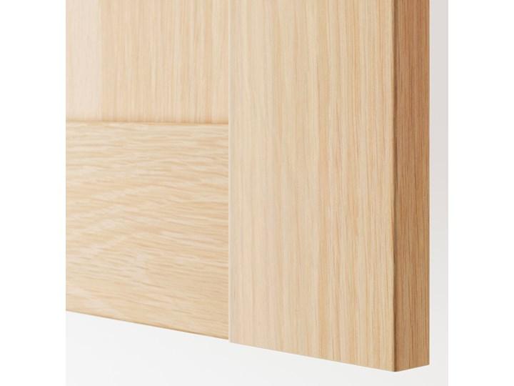 IKEA PAX / BERGSBO Kombinacja szafy, dąb bejcowany na biało, 200x66x236 cm Drewno Stal Metal Ilość drzwi Czterodrzwiowe Rodzaj frontów Naturalne