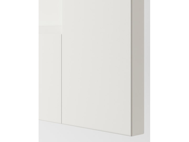 IKEA PAX / GRIMO Kombinacja szafy, biały, 200x66x201 cm Lustro Metal Stal Rodzaj frontów Mat