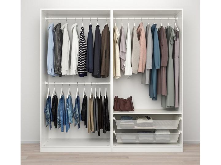 IKEA PAX / GRIMO Kombinacja szafy, biały, 200x66x201 cm Metal Typ Modułowa Stal Lustro