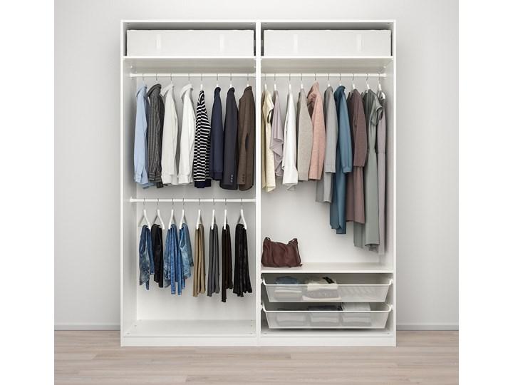 IKEA PAX / GRIMO Kombinacja szafy, biały, 200x66x236 cm Metal Stal Rodzaj drzwi Przesuwne