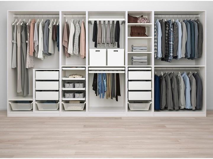 IKEA PAX Kombinacja szafy, biały, 375x58x201 cm Stal Styl Nowoczesny Metal Pomieszczenie Garderoba