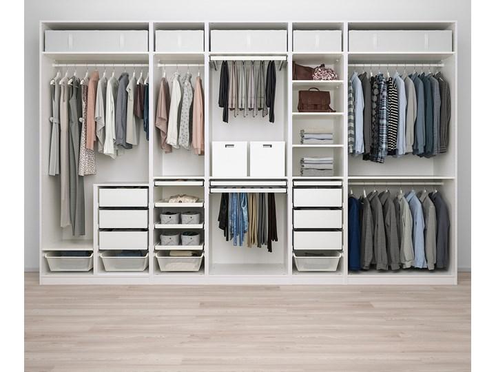 IKEA PAX Kombinacja szafy, biały, 375x58x236 cm Metal Stal Ilość drzwi Bez drzwi Pomieszczenie Garderoba