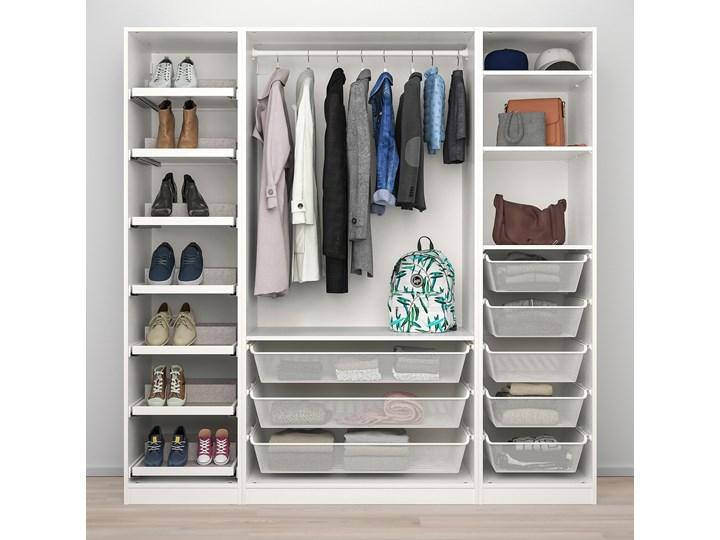 IKEA PAX / REINSVOLL Kombinacja szafy, biały/szarobeżowy, 200x60x201 cm Plastik Tworzywo sztuczne Stal Rodzaj drzwi Uchylne Metal Typ Modułowa