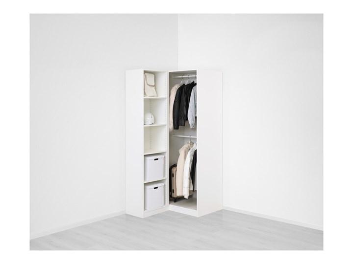 IKEA PAX Szafa narożna, biały/Fardal Vikedal, 111/88x201 cm Tworzywo sztuczne Metal Stal Plastik Pomieszczenie Garderoba
