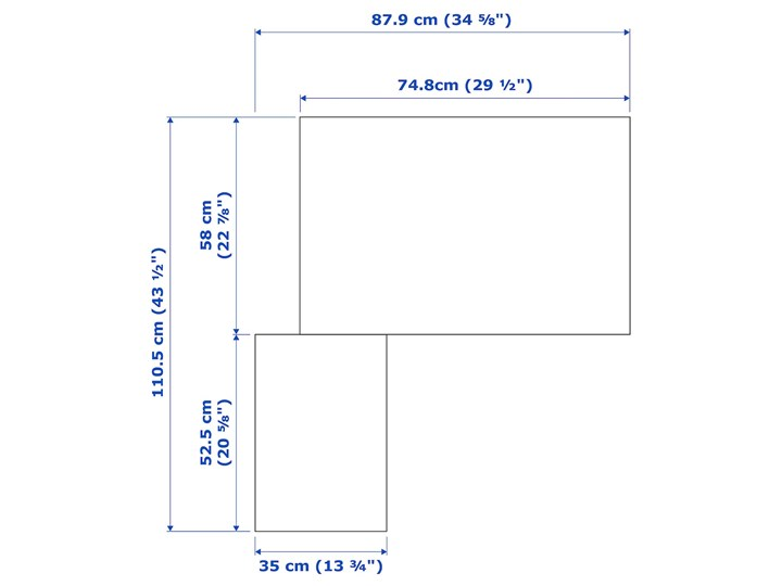 IKEA PAX Szafa narożna, biały/Fardal Vikedal, 111/88x201 cm Tworzywo sztuczne Stal Metal Plastik Pomieszczenie Garderoba
