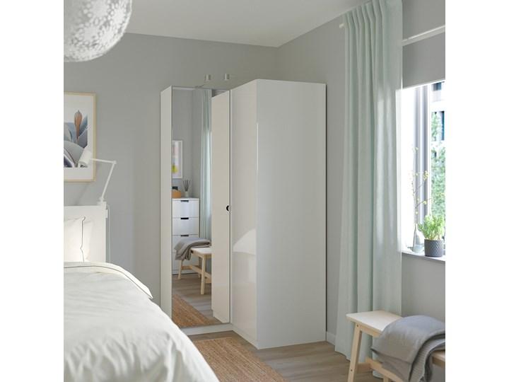 IKEA PAX Szafa narożna, biały/Fardal Vikedal, 111/88x201 cm Lustro Tworzywo sztuczne Metal Plastik Stal Kategoria Szafy do garderoby