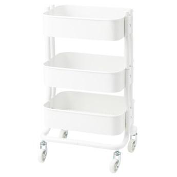 IKEA RÅSHULT Wózek, biały, 38x28x65 cm