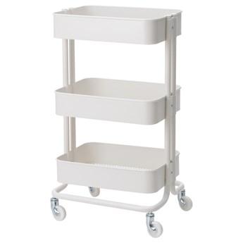 IKEA RÅSKOG Wózek, Biały, 35x45x78 cm
