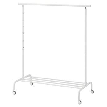 IKEA RIGGA Wieszak na ubrania, biały, Szerokość: 111 cm