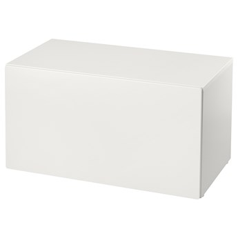 IKEA SMÅSTAD Ławka z pojemnikiem na zabawki, Biały/biały, 90x52x48 cm