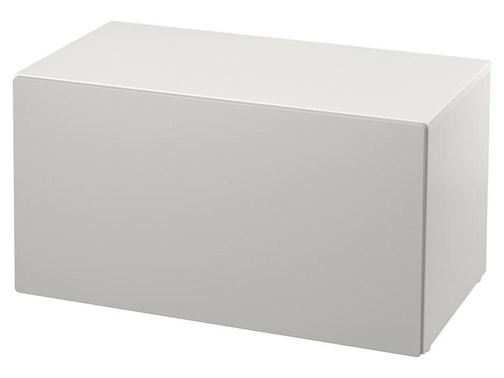 IKEA SMÅSTAD Ławka z pojemnikiem na zabawki, Biały/szary, 90x52x48 cm