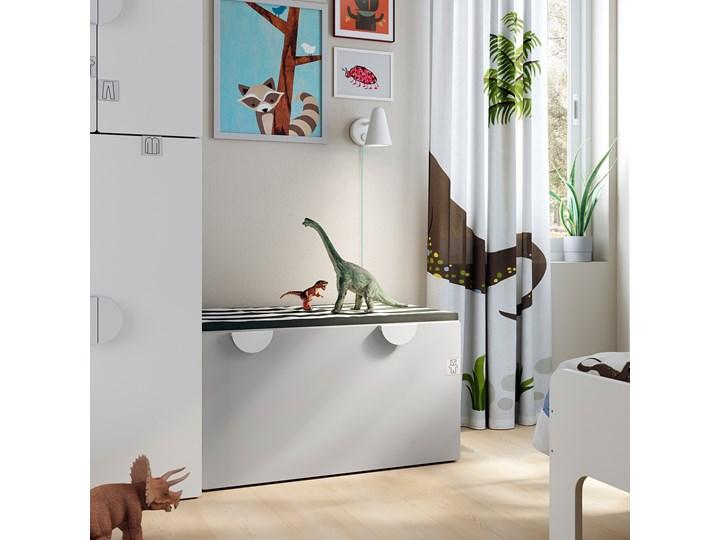 IKEA SMÅSTAD Ławka z pojemnikiem na zabawki, Biały/szary, 90x52x48 cm Kategoria Ławki do salonu