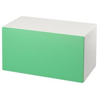 IKEA SMÅSTAD Ławka z pojemnikiem na zabawki, Biały/zielony, 90x52x48 cm