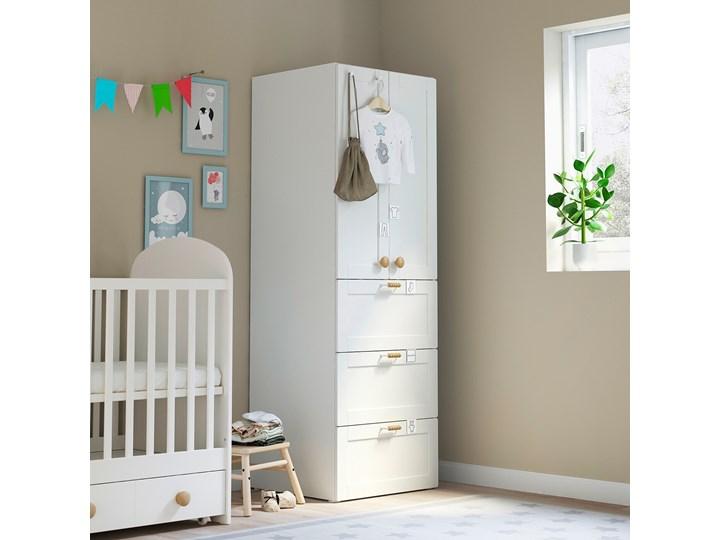 IKEA SMÅSTAD Szafa, Biały biała rama/z 3 szufladami, 60x57x181 cm Płyta MDF Kategoria Szafy do garderoby Ilość drzwi Dwudrzwiowe