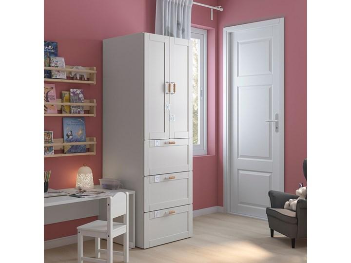 IKEA SMÅSTAD Szafa, Biały biała rama/z 3 szufladami, 60x57x181 cm Płyta MDF Lustro