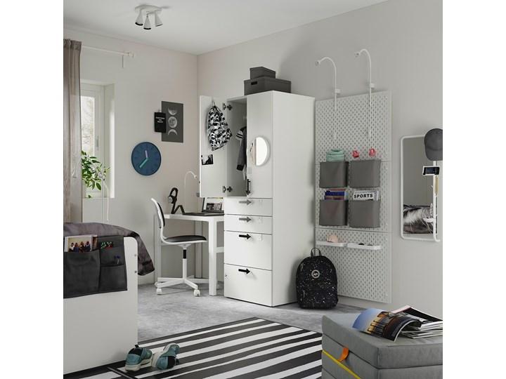 IKEA SMÅSTAD Szafa, Biały biała rama/z 3 szufladami, 60x57x181 cm Płyta MDF Styl Nowoczesny