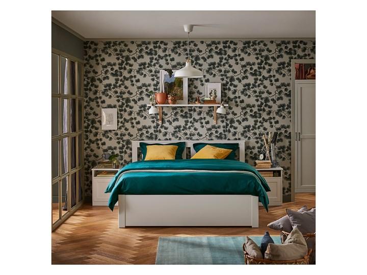 IKEA SONGESAND Rama łóżka z 2 pojemnikami, biały, 160x200 cm Łóżko drewniane Styl Klasyczny