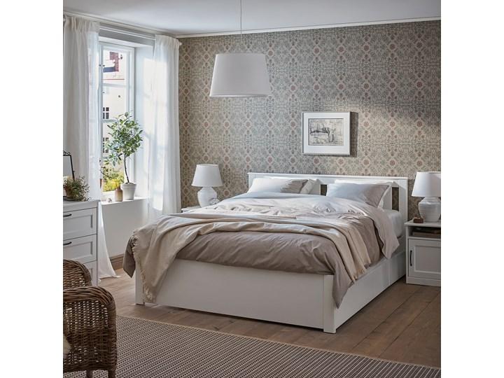 IKEA SONGESAND Rama łóżka z 4 pojemnikami, biały, 140x200 cm Łóżko drewniane Kategoria Łóżka do sypialni Kolor Szary