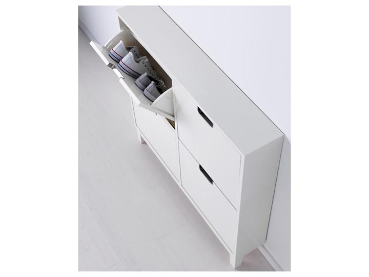 IKEA STÄLL Szafka na buty, 4 przegrody, biały, 96x17x90 cm Płyta meblowa Płyta laminowana Płyta MDF Kategoria Szafki i regały