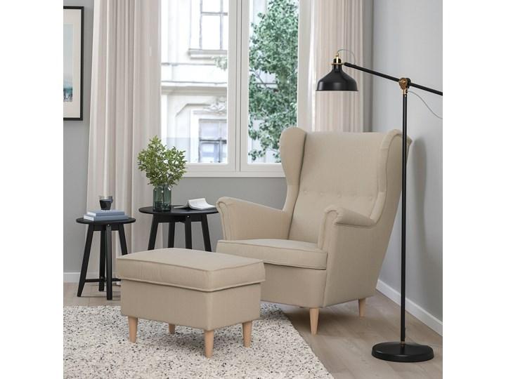 IKEA STRANDMON Fotel uszak, Kelinge beżowy, Szerokość: 82 cm Tkanina Tworzywo sztuczne Drewno Kategoria Fotele do salonu