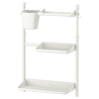 IKEA SUNNERSTA Organizer kuchenny zest, bez wiercenia/ociekarka/półka/uchw papier/poj, Szerokość: 45.7 cm
