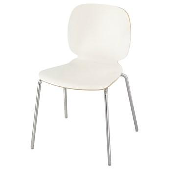IKEA SVENBERTIL Krzesło, biały/Broringe chrom, Przetestowano dla: 110 kg