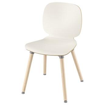 IKEA SVENBERTIL Krzesło, biały/Ernfrid brzoza, Przetestowano dla: 110 kg