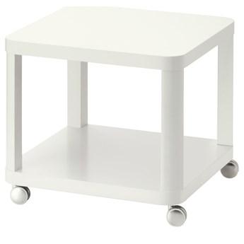 IKEA TINGBY Stolik na kółkach, Biały, 50x50 cm