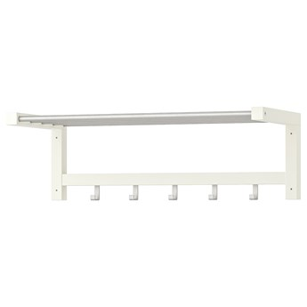 IKEA TJUSIG Półka na kapelusze, biały, 79 cm