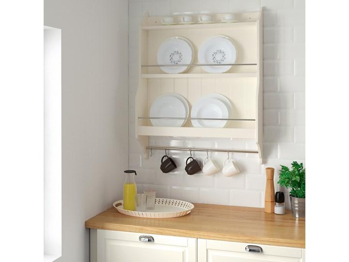 IKEA TORNVIKEN Półka na talerze, Kremowy, 80x100 cm Płyta MDF Kategoria Półki kuchenne