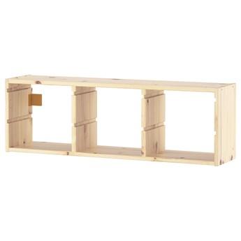 IKEA TROFAST Szafka ścienna, jasna sosna bejcowana na biało, 93x30 cm