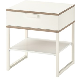 IKEA TRYSIL Stolik nocny, biały/jasnoszary, 45x40 cm