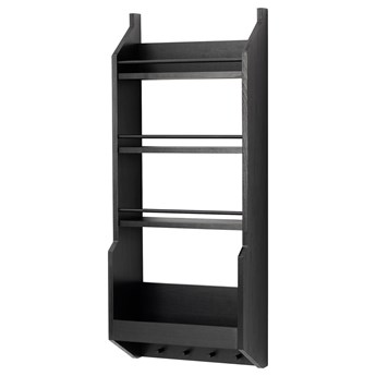 IKEA VADHOLMA Półka ścienna, czarny, Szerokość: 40 cm
