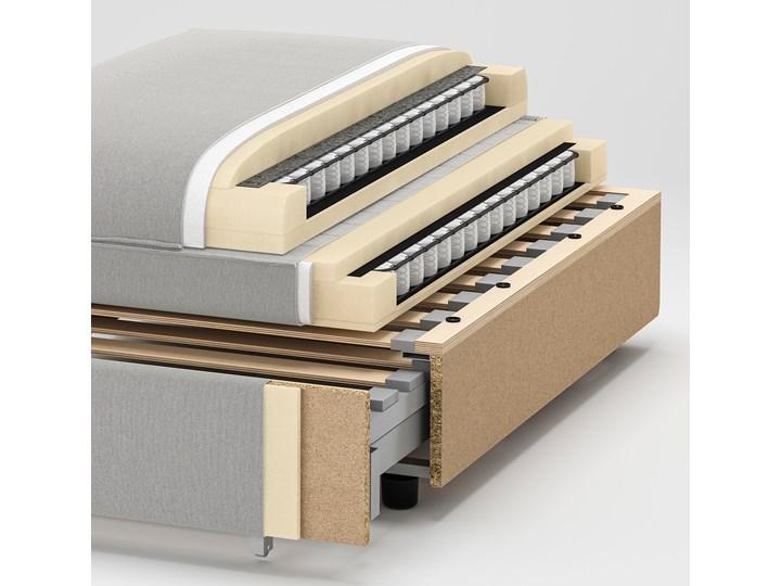 IKEA VALLENTUNA Moduł sofy rozkładanej, Hillared ciemnoszary, Długość łóżka: 200 cm Głębokość 100 cm Modułowe Typ Pikowane Rozkładanie Rozkładana
