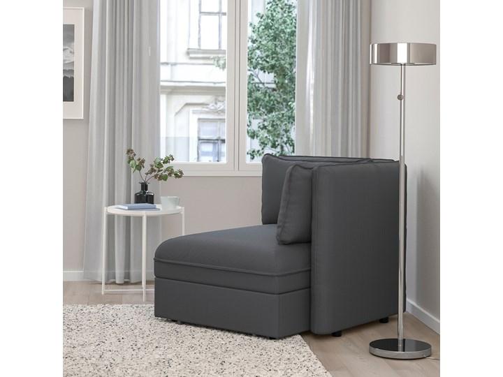 IKEA VALLENTUNA Moduł sofy rozkładanej z oparciem, Kelinge antracyt, Szerokość: 113 cm Modułowe Powierzchnia spania 80x200 cm