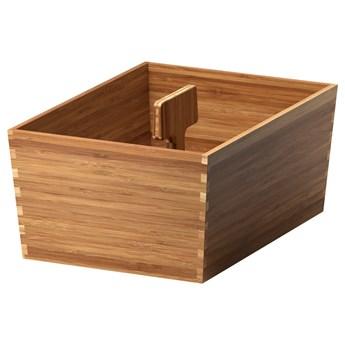 IKEA VARIERA Pudełko z uchwytem, bambus, 33x24 cm